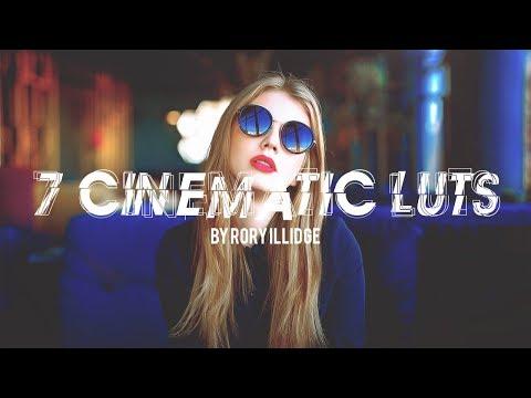 7 Cinematic LUTs • LUT Pack   Premiere Pro, Final Cut Pro
