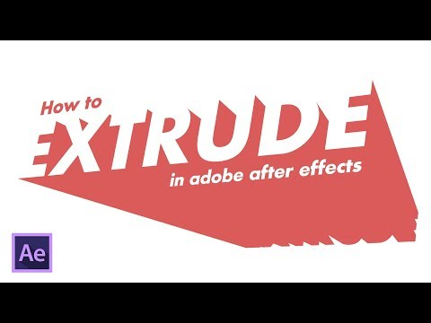 How to Extrude Text in Adobe After Effects (2019)