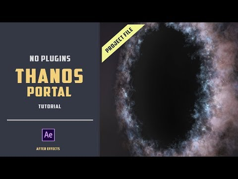 Thanos portal effect with project file [NO PLUGIN][AFTER EFFECTS TUTORIAL]