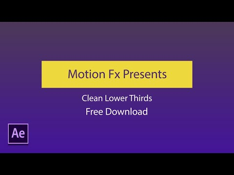 *FREE* 2D Lower Thirds Pack (Ae Template) Motion Fx