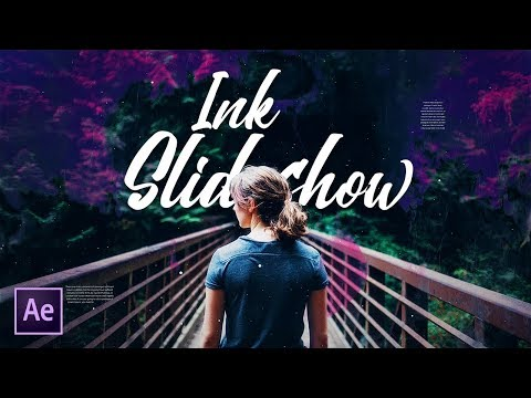 Ink Slideshow Animation in After Effects - After Effects Tutorial (Free Project File)