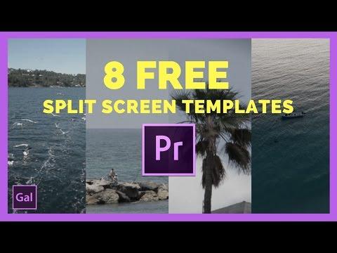Free Split Screen Templates for Adobe Premiere Pro cc !