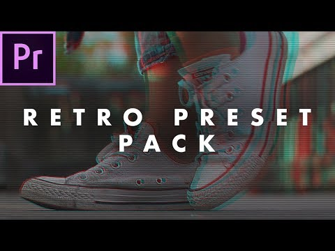 FREE Retro Look Preset Pack for Adobe Premiere Pro (how to use)   Easy Tutorial
