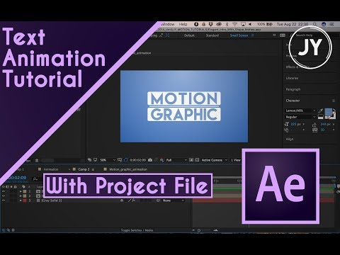 Adobe After Effects CC Motion Tutorial + FREE PROJECT FILE | JY Motion