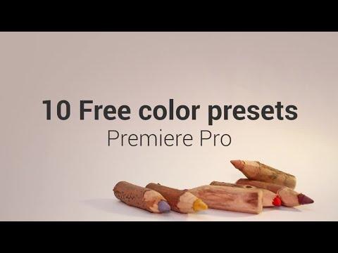 10 Free Color Presets Premiere Pro Templates