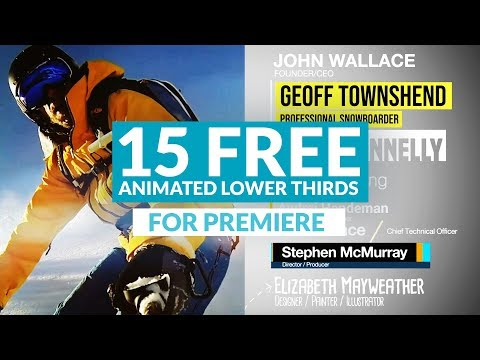 15 FREE ANIMATED Lower Thirds for Premiere + AE Project File | RocketStock