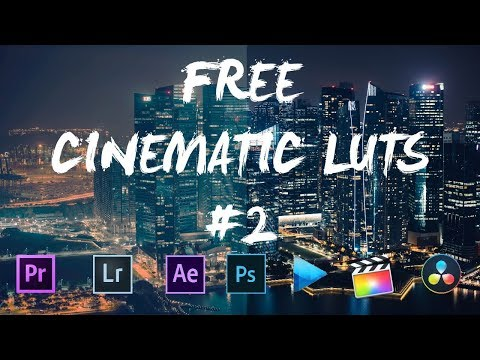 8 FREE CINEMATIC LUTS #2 ( PREMIERE PRO, FINAL CUT PRO, AFTER EFFECT ETC...)